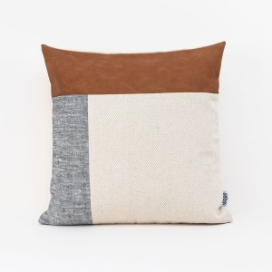 Linen and Stripes leather color retro grey1