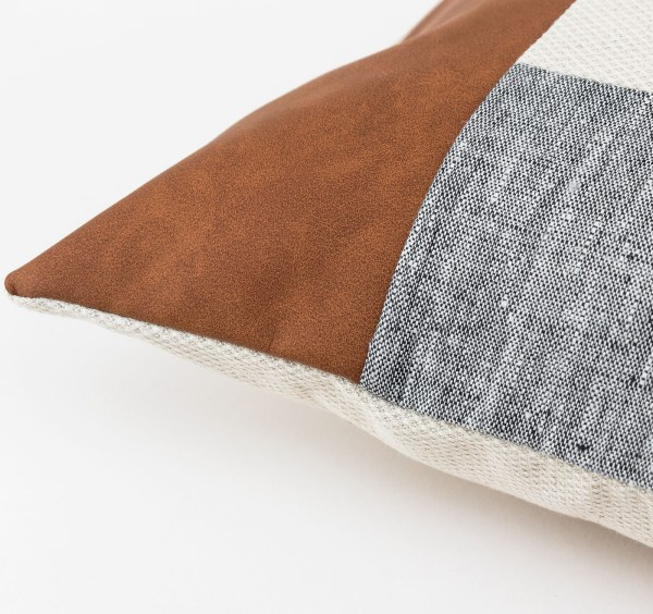 Linen and Stripes leather color retro grey3