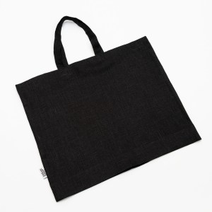 Linen and Stripes linen tote bags black1