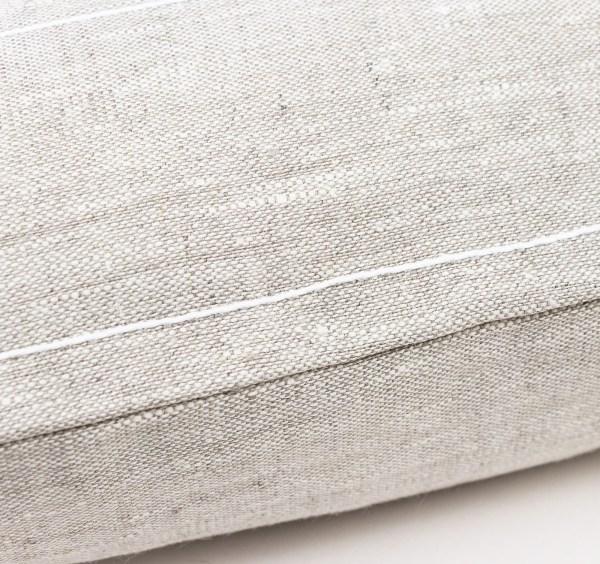 linen and stripes Beige linen white cotton line square3