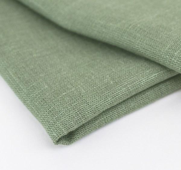 linen and stripes napkin green4