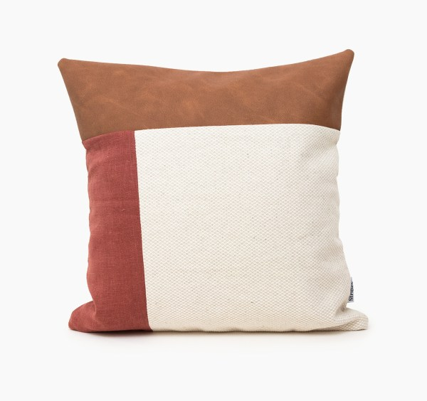 red plain geometric linen and stripes2