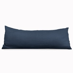Body Pillow Linen and Stripes Navy1