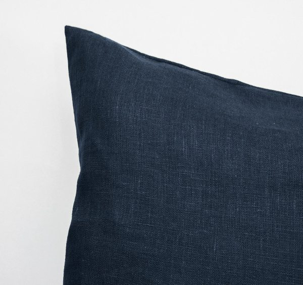 Body Pillow Linen and Stripes Navy2