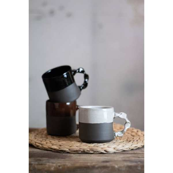 Rebecca Graves Pottery Home Page - The Carriage House Coffee Mug City Black