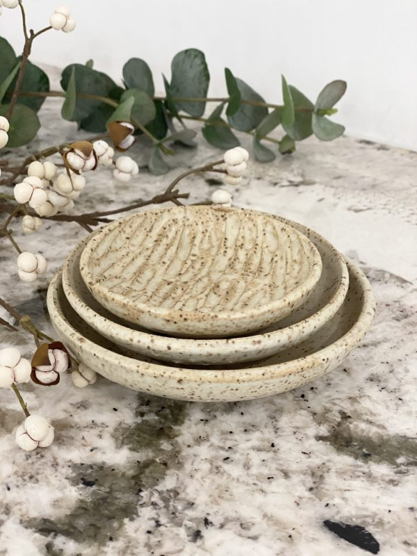Gina DeSantis Ceramics - Sandstone Nesting Bowls