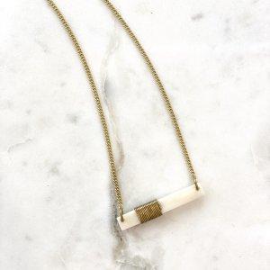 Amsha - Coiled Bar Necklace