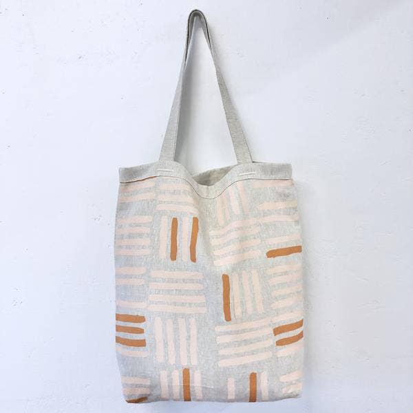 Erin Flett - Dusty Pink Grid Carry All Bag