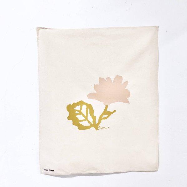 Erin Flett - Dusty Pink Flower Tea Towel