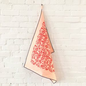 Erin Flett - Lipstick Berries Linen Tea Towel