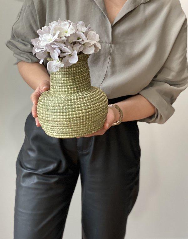 Amsha - Classic Sweetgrass Vase