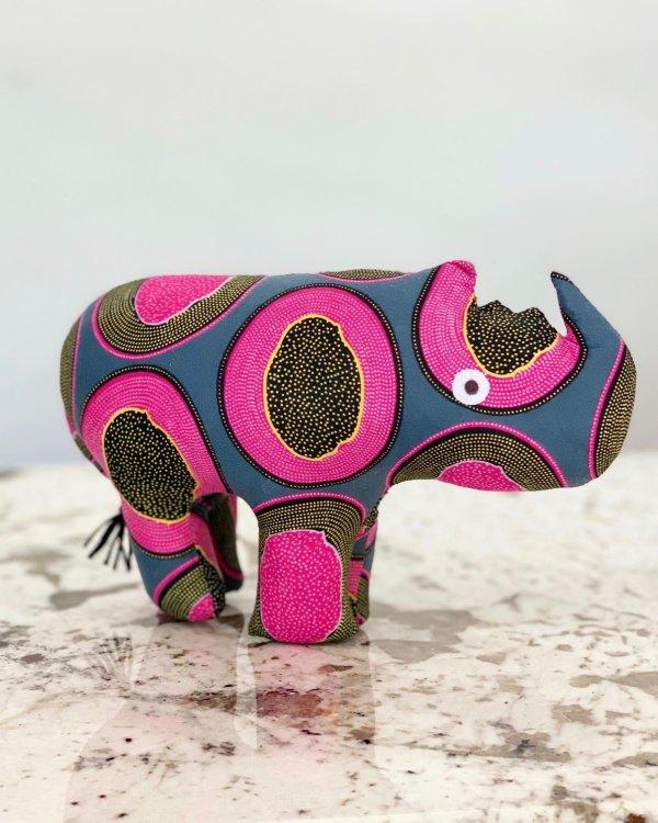 Amsha - Safari Animals: Pink Papaya RHINO