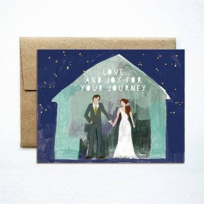 Ferme à Papier - Barn Couple Wedding Card