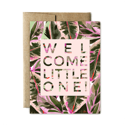 Ferme à Papier - Lush Welcome Little One Greeting Card