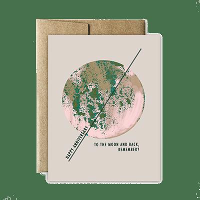 Ferme à Papier - Moon And Back Anniversary Card