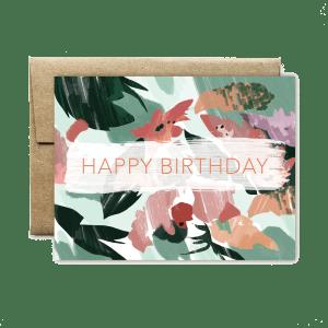 Ferme à Papier - Pink Peach Floral Birthday Card