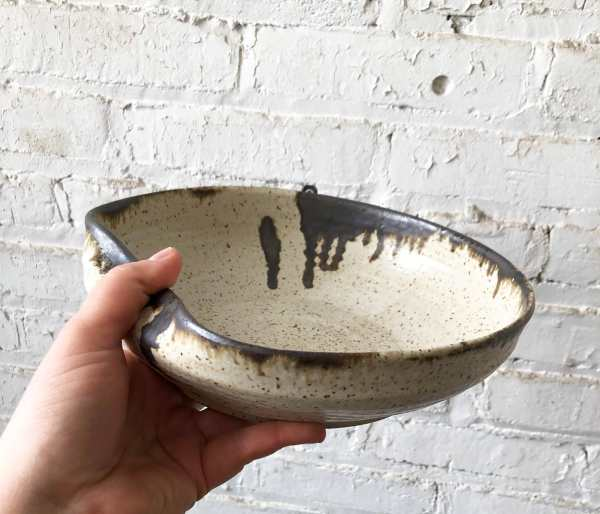 Gina DeSantis Ceramics - Luna Serving Bowl with Handle Rest