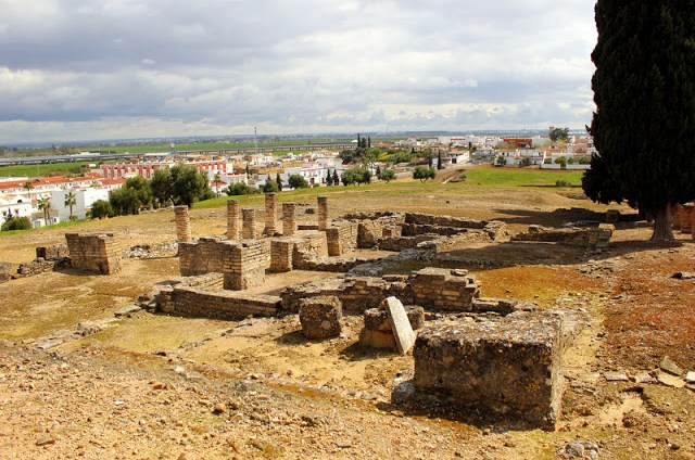 View of Santiponce from Italica