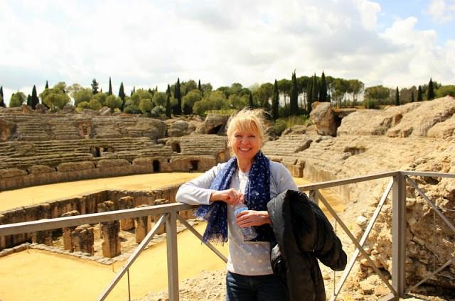View over the Roman amphitheatre, Italica