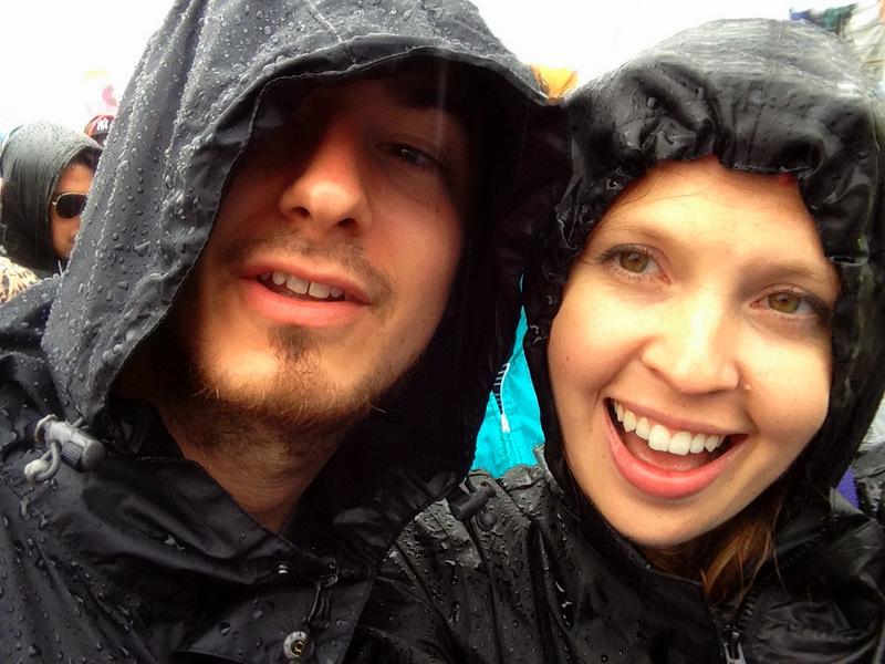 Rain at Glastonbury