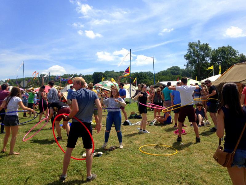 Hula hoop class Glastonbury