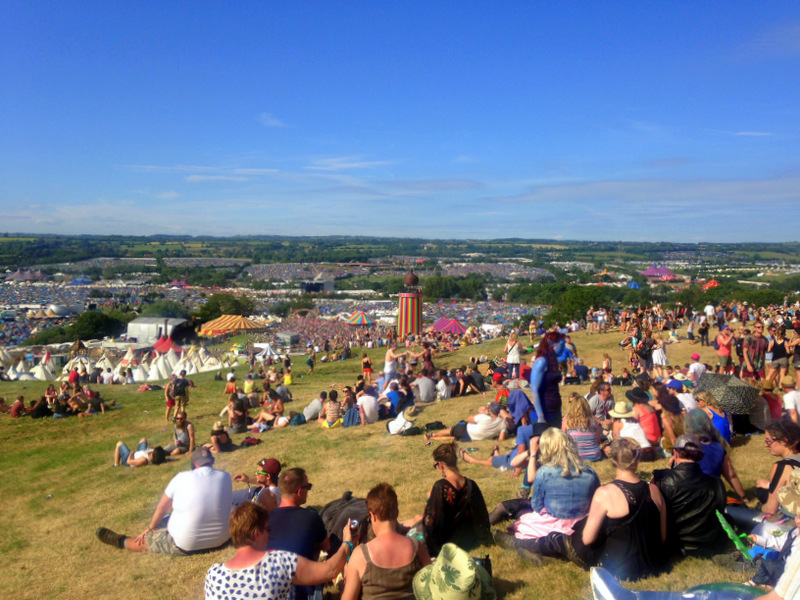 View over Glastonbury