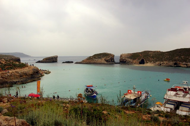 Arriving at Comino