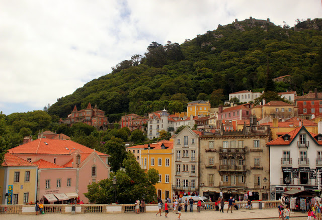 Colourful buildings of Sintra