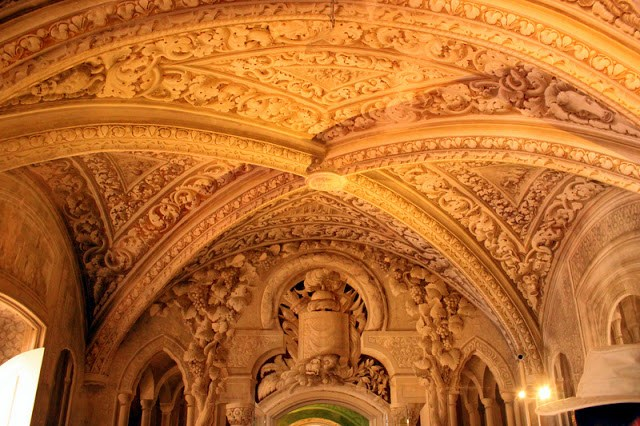 Ceiling at Pena National Palace