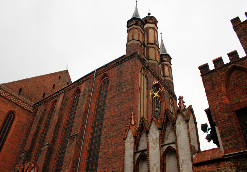 Outside of St Mary's Church in Torun