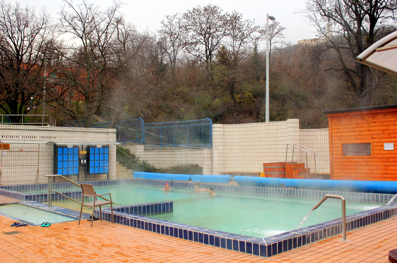 Outdoor heated pool, Gellert Spa