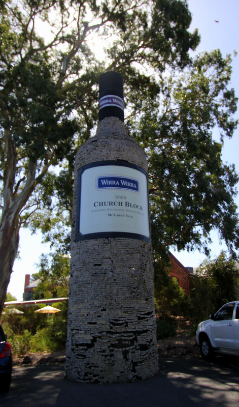 Big wine bottle, South Australia