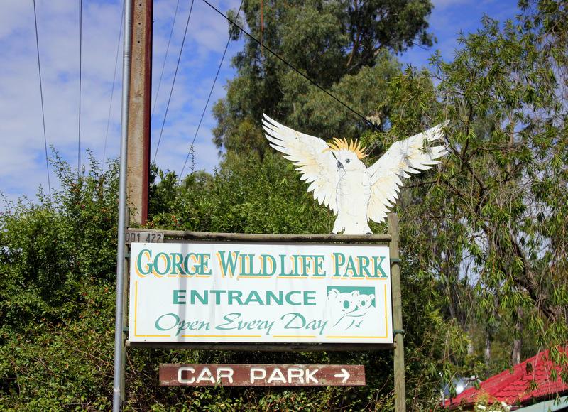 Gorge Wildlife Park sign