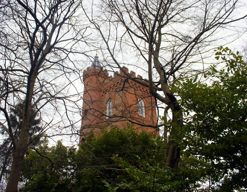 Gothic tower at Painshill Park