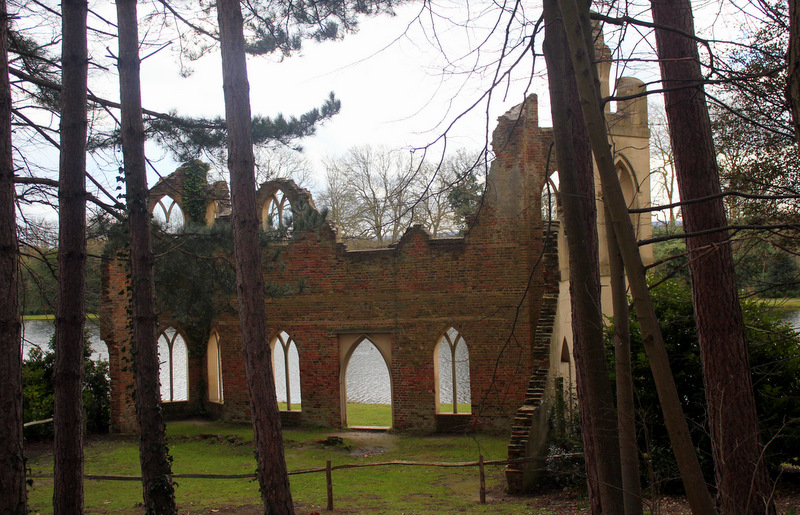 Ruined abbey at Painshill Park