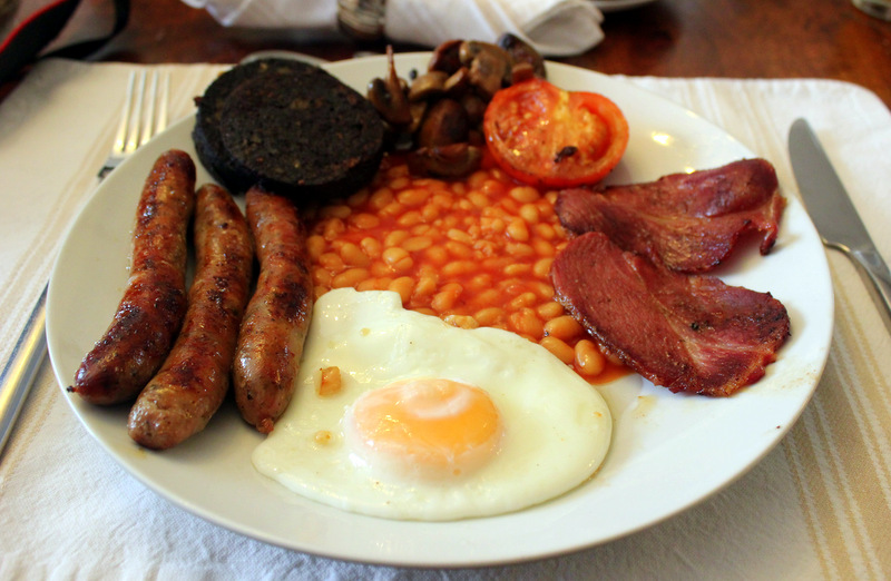 Full English breakfast at Cathedral View Guest House