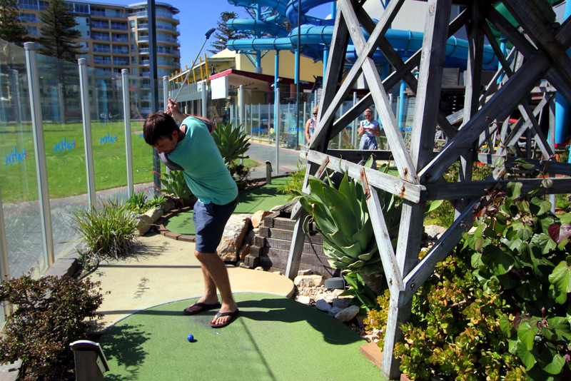 Mini golf at Glenelg
