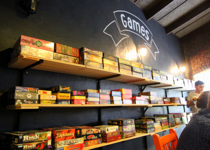 Game selection at The Hungry Hippo