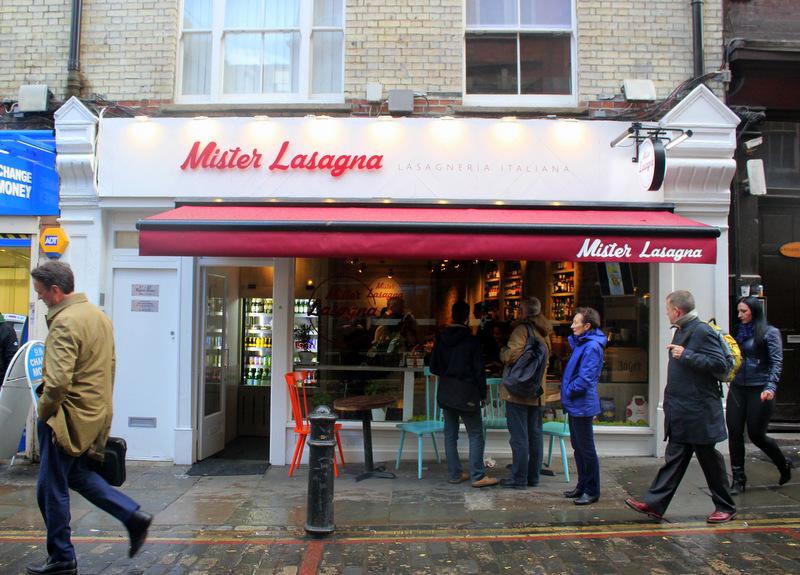 Mister Lasagna, London restaurant