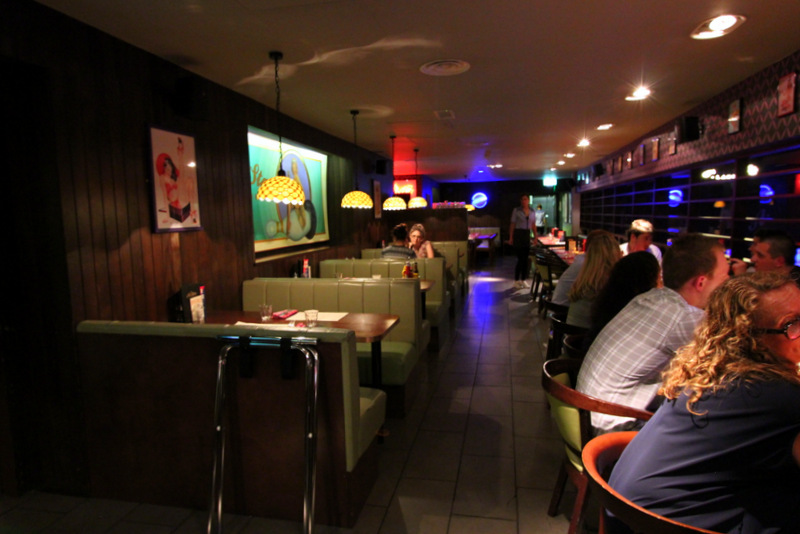Dining area at All Star Lanes, Holborn