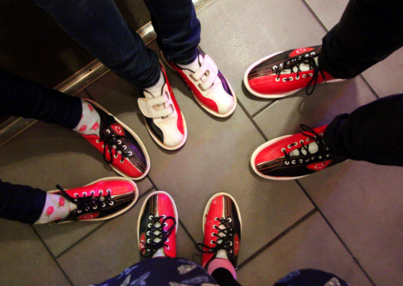 Shoes at All Star Lanes, Holborn