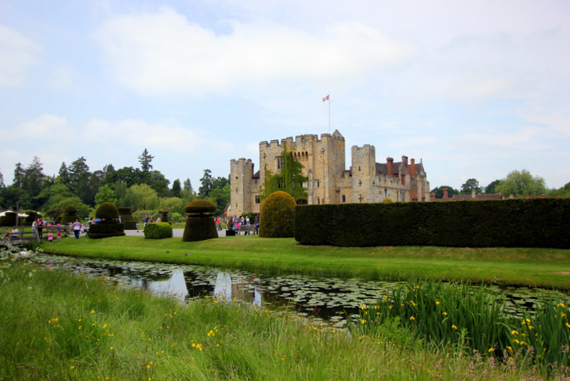 Hever Castle from afar