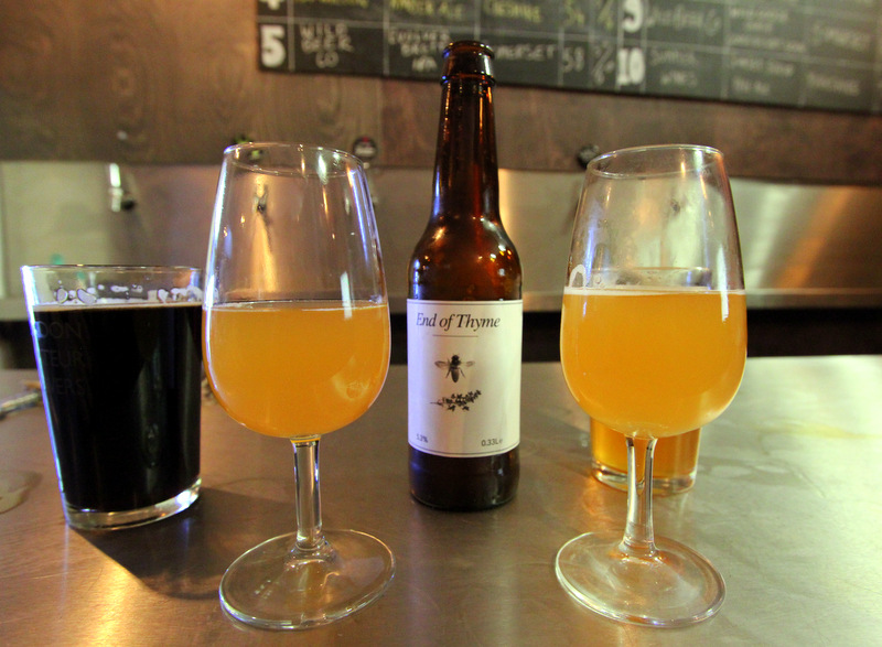 Thyme beer at UBREW