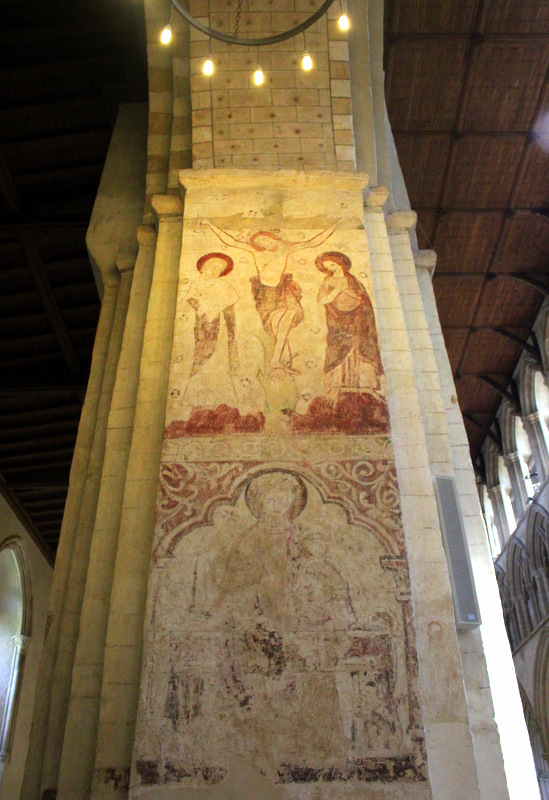Murals inside St Albans Cathedral