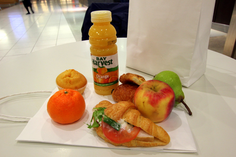Takeaway breakfast at Holiday Inn Auckland Airport