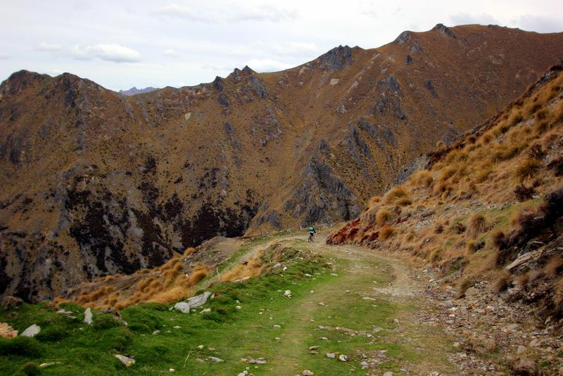 Mountain biking on Isthmus Peak