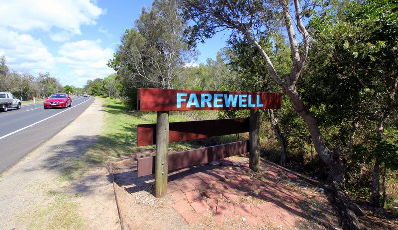 Byron Bay farewell sign