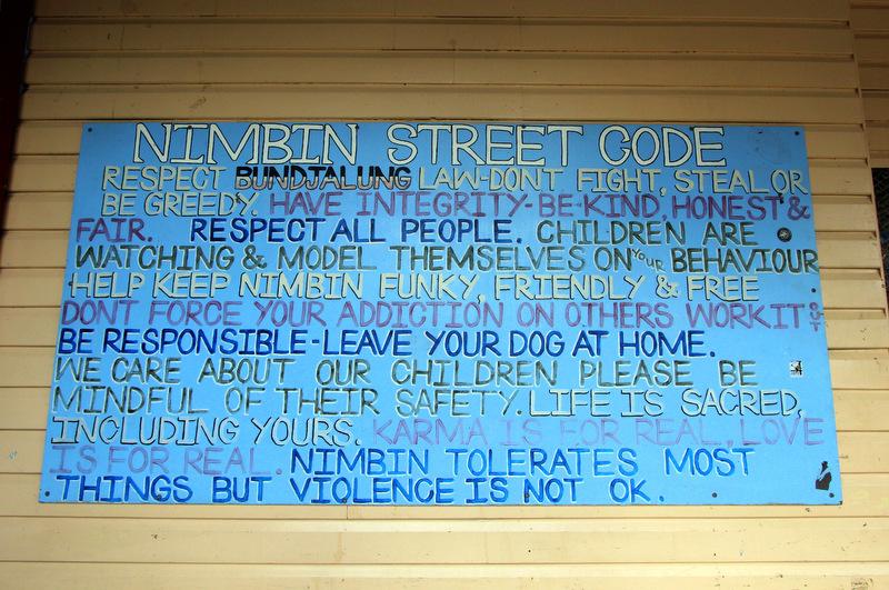 Nimbin code of conduct
