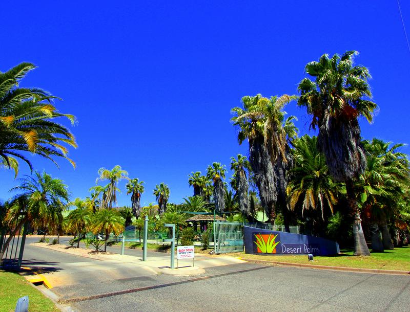 Entrance of Desert Palms Resort