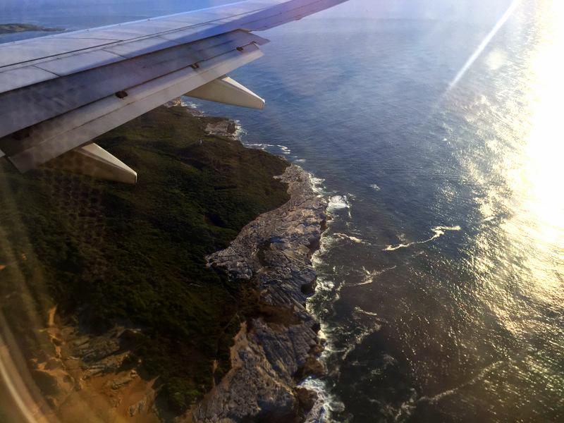 Plane shot of Australian coast